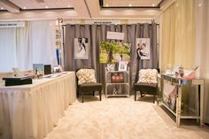 Inspiration for a photographer bridal show booth idea