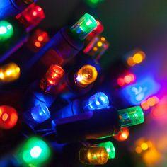 "70 5mm Multi Color LED Christmas Lights, 4"" Spacing 24'"