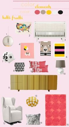 pink and yellow nursery
