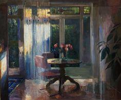 Simeon Nijenhuis, Avond in Juni, 60 x 50 cm, olieverf op paneel