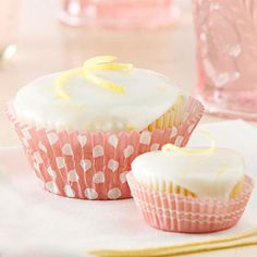 These Lemon-Poppyseed Cupcakes are tops! More of our favorite cupcake recipes here: http://www.bhg.com/recipes/desserts/cupcakes/our-best-cupcake-recipes/?socsrc=bhgpin080414lemonpoppyseedcupcakes&page=2