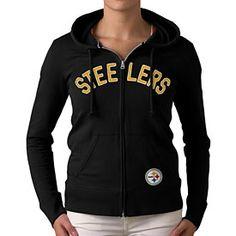 Get this Pittsburgh Steelers Ladies Pep Rally Full-Zip Hooded Sweatshirt at  ThePittsburghFan.com 01729dece