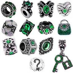 Timeline Trinketts Green Charm Bracelet Beads Fit Pandora Jewelry, Rhinestone, Birthstone, Emerald http://www.amazon.com/gp/product/B00I9N04UQ/ref=as_li_ss_tl?keywords=birthstone%20charms&qid=1449081607&ref_=sr_1_176&sr=8-176&linkCode=sl1&tag=bettehomemnet-20&linkId=82a3bd8a273e8b845a52ad32d1e5d84c