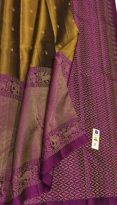 Kanjivaram Sarees Silk, Indian Silk Sarees, Kanchipuram Saree, Wedding Saree Blouse Designs, Pattu Saree Blouse Designs, Sarees For Girls, Lehenga Saree Design, Silk Sarees With Price, Saree Tassels