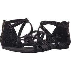 Not Rated Coastin (Black) Women's Sandals ($25) ❤ liked on Polyvore featuring shoes, sandals, black, black open toe shoes, kohl shoes, not rated shoes, black shoes and jewel sandals