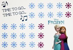 """Free Printable Disney Frozen Potty Chart with Elsa and Anna. """"Time to Go... Time to Go..."""" #PUBigKid #ad"""