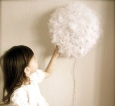 pompom light - another  Dollar Tree craft