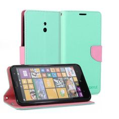 Gmyle (r) Wallet Case Classic For Nokia Lumia 1320 - Mint Green & Pink Cross Pattern Pu Leather Slim Magnetic http://www.smartphonebug.com/accessories/17-top-nokia-lumia-1320-cases-and-covers/