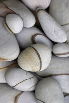 Time rounded these stones and left the line in.