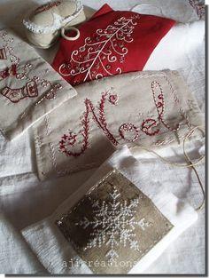 Christmas embroidery ... so pretty!