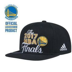 Golden State Warriors adidas 2017 NBA Finals Western Conference Champs Authentic Locker Room Snapback Cap - Black