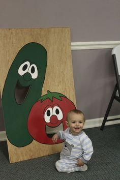 Veggie Tales Birthday Party Bob and Larry Bean Bag Toss Made by: Kevin and Rachel Berry Spontaneous Creations