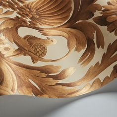 Gibbons Carving | Cole & Son Scenic Wallpaper, Organic Structure, Beige Style, Cole And Son, Natural Forms, 17th Century