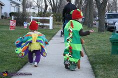 The Very Hungry Caterpillar and Beautiful Butterfly - Halloween Costume Contest via @costume_works