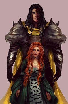 Sansa and Sandor by AlcoholicRattleSnake.deviantart.com on @DeviantArt