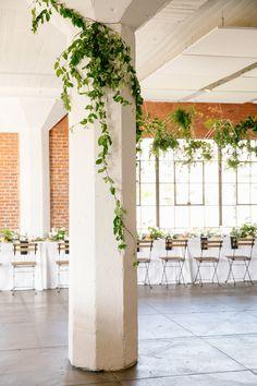 Hudson Loft | greenery | reception decor | vine details