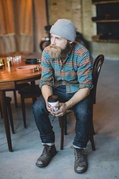 Normandy Shoppe is a Menswear, Housewares, Accessories and Lifestyle store, specializing in high quality goods for the aesthetically conscious mind. I Love Beards, Great Beards, Rugged Style, Mode Plein Air, Folk Fashion, Mens Fashion, Lumberjack Style, Outdoorsy Style, Sexy Beard
