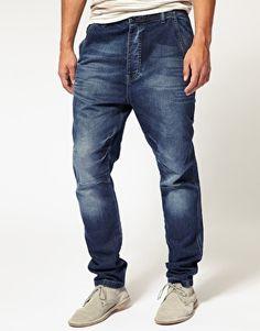 Drop Crotch Carrot Jeans