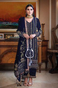 Designer Wear, Designer Dresses, Casual Dresses, Fashion Dresses, Dress With Shawl, Velvet Suit, Pakistani Salwar Kameez, Bridal Lehenga, Velvet Dresses