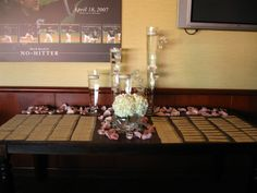 Floral placecard table by Virginia Wolff Inc