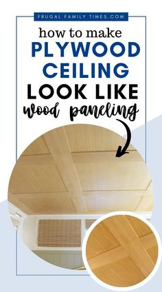 The beauty of a wood ceiling on a budget! It doesn't look like a plywood ceiling at all. Are you looking for basement ceiling options? We were too. We wanted an idea for our low basement ceiling - we found one! A special plywood. This inexpensive idea cost about $1.50 a square foot. This is a great basement ceiling on a budget! Plywood Ceiling, Basement Ceiling Options, Wood Ceilings, Affordable Home Decor, Cheap Home Decor, Diy Home Decor, Decor Logo, Interior Minimalista, Frugal Family