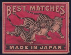 10b Old Packet Matchbox Label Japan China Auspicious Patriotic Safety Match