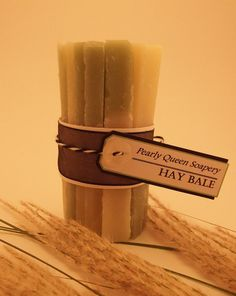Hay Bale soap  Fresh Cut Grass scent  by PearlyQueenSoapery, $5.25
