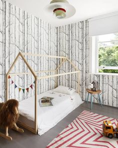 Is this kid's room goals?  From one of our #london projects  earlier this year. Also you can now find us on @houzz !  #interiordesign #interiors #kidsroom #kidsroomdecor #kidsroominspo #childrensroom #playtime #naptime #wallpaper #kidsbedroom #houzz #londonarchitects
