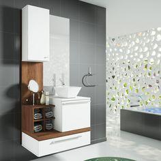 Os conjuntos de gabinete com espelheira são ideais para deixar o ambiente organizado e a decoração mais harmoniosa.