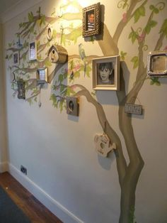 Tree mural for any home. Family Tree Mural, Tree Wall Murals, Tree Decals, Family Trees, Picture Tree, Photo Tree, Tree Plan, School Murals, Home Wallpaper