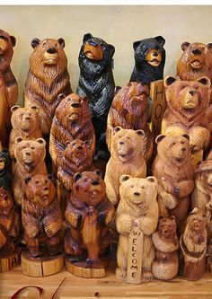 Carved bears