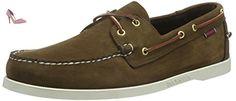 Sebago Docksides, Chaussures Bateau Homme, Marron (Dark Brown Nubuck), 49 EU - Chaussures sebago (*Partner-Link)