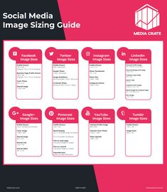 Social media image sizes - learn how to optimize your social media images for each platform Social Media Sizes, Social Media Apps, Social Media Images, Content Marketing Tools, Social Media Marketing Business, Inbound Marketing, Twitter For Business, Business Pages, Business Tips