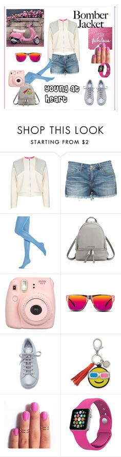 """""""Young at Heart"""" by sgunlu ❤ liked on Polyvore featuring D'Albert, Hue, MICHAEL Michael Kors, GlassesUSA, adidas, Rebecca Minkoff, women's clothing, women, female and woman"""