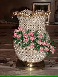 Resultado de imagen para floreros de perlas paso a paso