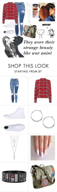 """""""like war paint"""" by ms-prettymama ❤ liked on Polyvore featuring Topshop, Tommy Hilfiger, Converse, Lauren Ralph Lauren, BERRICLE and Marvel"""