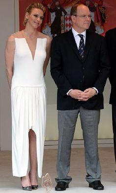 Prince Albert of Monaco and Princess Charlene of Monaco attended the Monaco Formula One Grand Prix at the Monaco street circuit in Monte-Carlo on May 24, 2015 in Monte-Carlo, Monaco.
