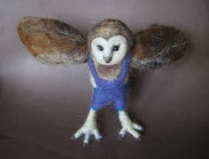 Nedle Felted Animal Barn Owl Owl boy