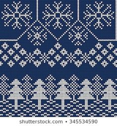 Retro Embroidery Ideas Vector Illustration of Ugly sweater seamless Pattern for Design, Website, Background, Banner. Merry christmas Knitted Retro cloth with Snowflake and Christmas tree Element Template - Fair Isle Knitting Patterns, Knitting Charts, Knitted Christmas Stockings, Christmas Knitting, Vintage Embroidery, Cross Stitch Embroidery, Embroidery Patterns, Cross Stitch Patterns, Lazy Daisy Stitch