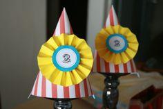Circus Party Hats #circus #partyhats