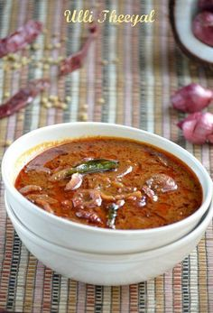 Ulli Theeyal/Shallots in Tamarind and Coconut Sauce ~ Nalini'sKitchen