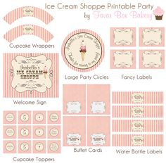 Ice Cream Shoppe Printable Party