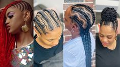 Super Stunning Natural Cornrow Hairstyles To Wear In 2020 Natural Cornrow Hairstyles, Natural Hair Braids, African Hairstyles, Natural Hair Styles, Afro, Pelo Natural, Cornrows, Hair Videos, Music Quotes