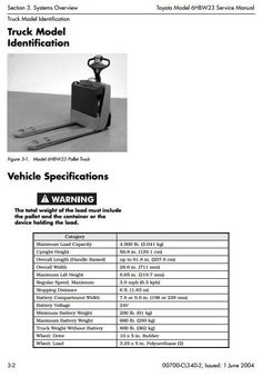 toyota fork truck 7fdf15 7fdf18 7fdf20 7fdf25 7fdf30 7fdj35 original illustrated factory workshop service manual for toyota electric pallet truck type 6hbw original factory