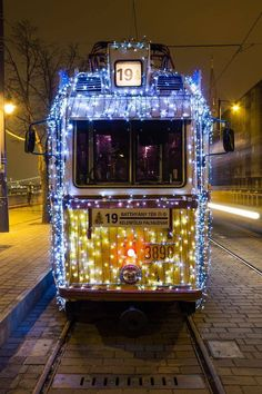 Christmas Tram - Budapest by Tamás Kecskés on Visit Budapest, Most Beautiful Cities, Christmas Lights, City, Holiday, Trains, Transportation, Hungary, Christmas Rope Lights