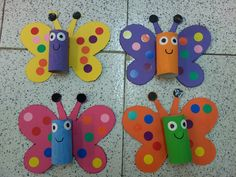 butterfly craft using tissue holders