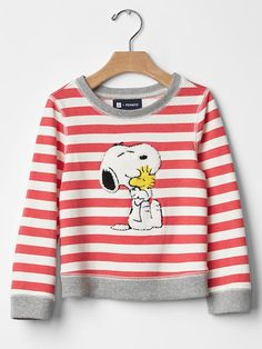 babyGap + Peanuts® stripe sweatshirt - The gangs all here! Catch the limited time babyGap + Peanuts® collection of cool classics and new favorites.