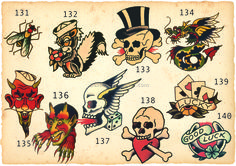 Image result for sailor jerry tattoo flash page