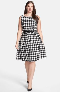 Jessica Simpson Houndstooth Dress (Plus Size)   Nordstrom