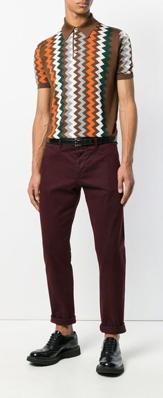 Prada Geometric Print Polo Shirt